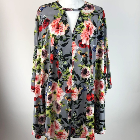 f25480f1e478 Umgee Dresses | Swing Dress Womens Medium Floral Bell Sleeve | Poshmark